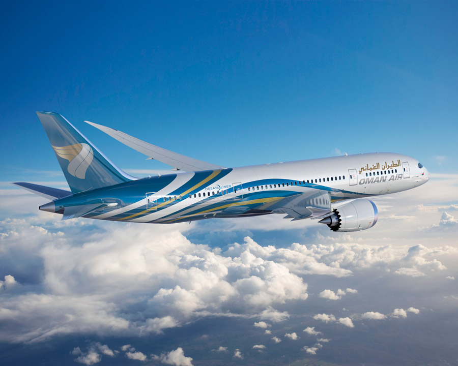 Oman Air publishing an article on Bondoni