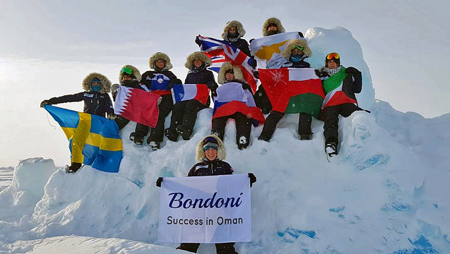 Bondoni Sponsors The first omani to reach the noth pole